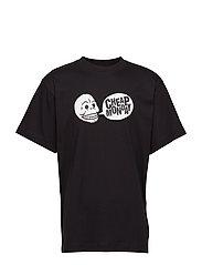 Uni tee Speech logo - BLACK