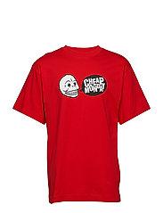 Uni tee Speech logo - SCARLETRED