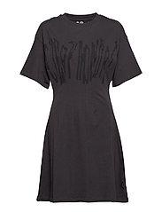 Conjured dress Defect logo - OFF BLACK