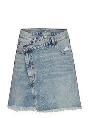 Slant Skirt Hex Blue - BLUE
