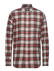 Fit shirt Relax check - PUNK RED
