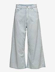 Cheap Monday - Abstract trousers - broeken met wijde pijpen - pale blue - 1