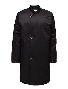 Tucked coat - BLACK