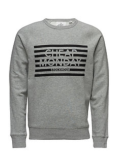 Rules sweat Striped logo - GREY MELANGE