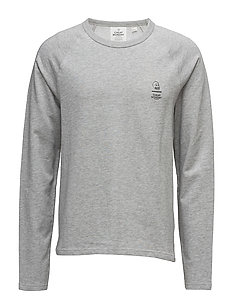 Rules 2 sweat Line skull - GREY MELANGE