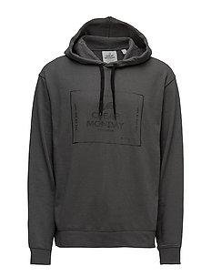 Pullover hood Box logo - DARK GREY