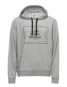 Pullover hood Box logo - GREY MELANGE