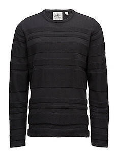 Enchant knit Irregular stripe - Off black