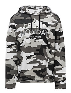 Pullover 2 hood After camo L - BLACK