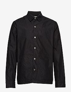 Out jacket Crew cut logo - overshirts - black