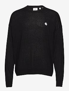 Fine knit - basic-strickmode - black