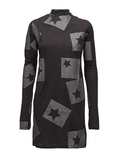 Strict dress Cut Star - DARK GREY MELANGE