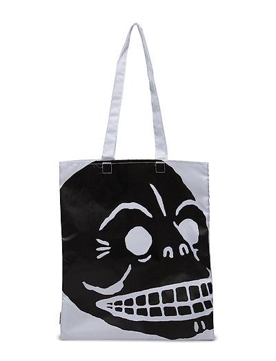 Modern tote Cover skull - WHITE
