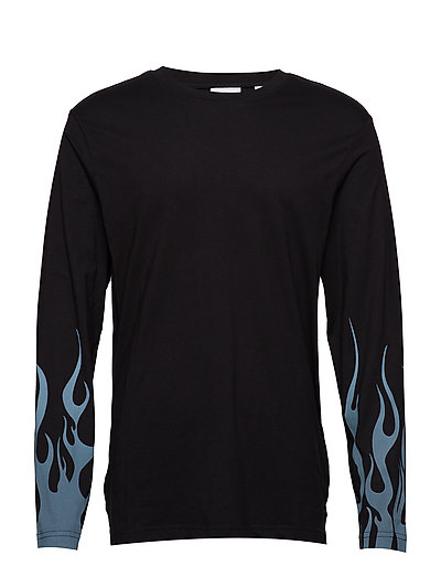 Flames ls tee Flames sleeve - BLACK