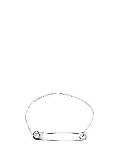 Safety pin bracelet - SILVER