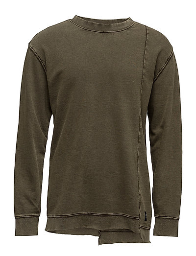 Default wash sweat - MUD GREEN USED WASH