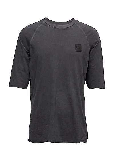 Sum edge wash tee - BLACK USED WASH