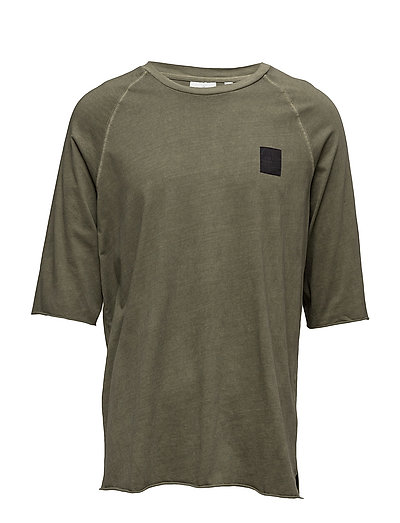 Sum edge wash tee - MUD GREEN USED WASH