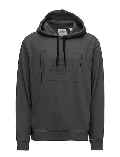 Pullover hood Box logo - DARK GREY