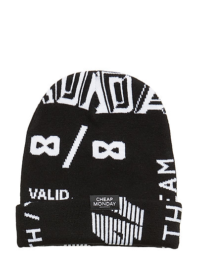 Cheap beanie Many logos - BLACK