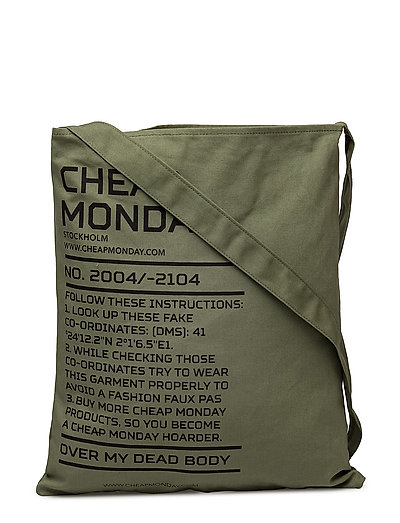 One tote Army logo - Bleached olive