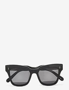 07 BLACK - d-vormige zonnebril - black