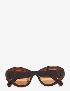 09 BROWN - cat-eye - brown