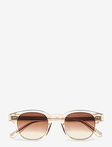 01 ECRU - ronde zonnebril - ecru