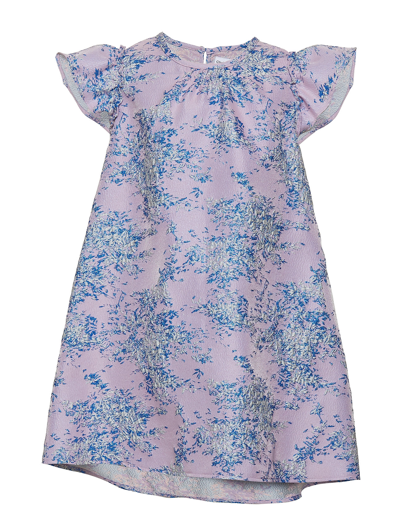 Christina Rohde Dress No. 101 - GREY/BLUE GLITTER MULTI FLOWER