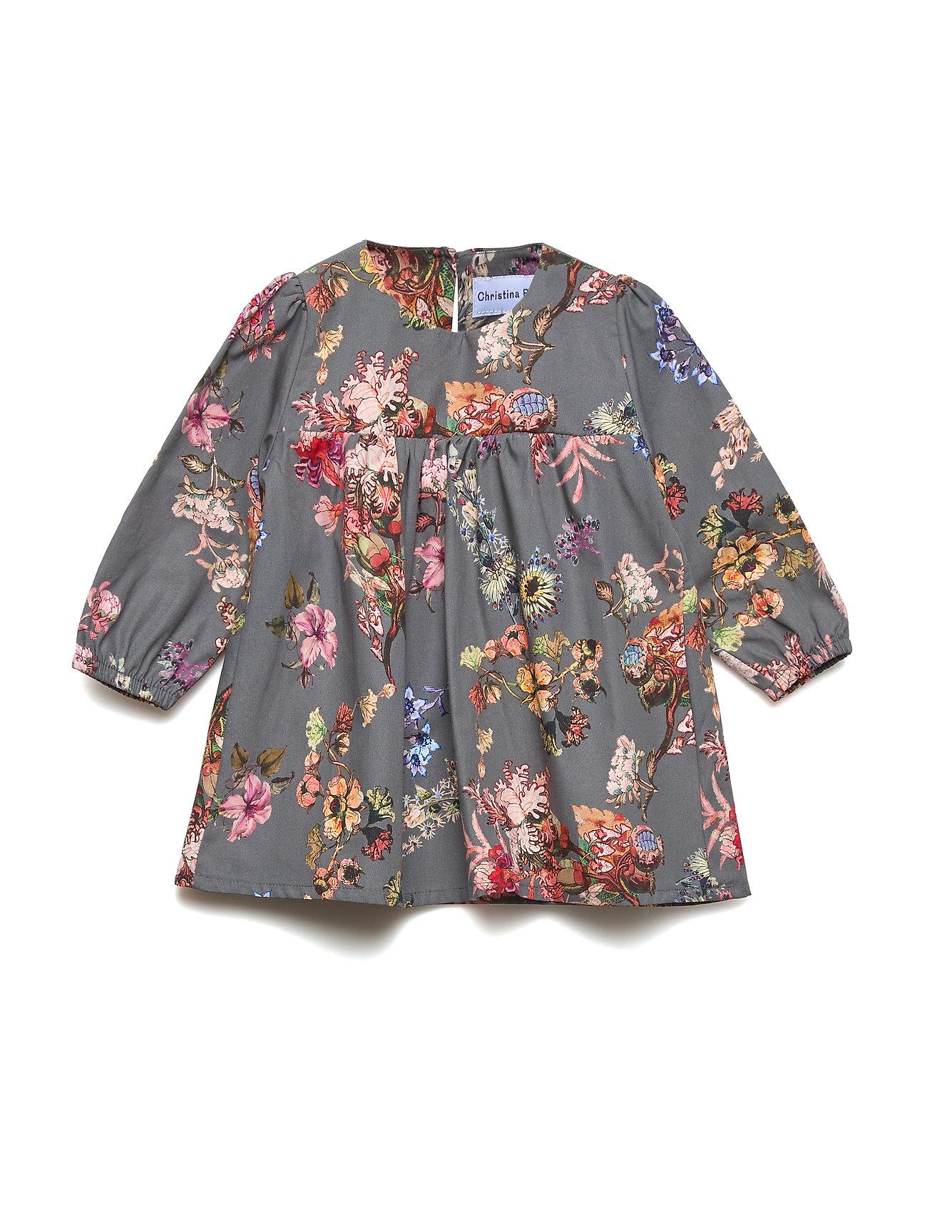 Christina Rohde Dress No. 824 - GREY FLOWERS