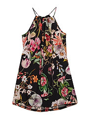 Dress No. 119 - BLACK MULTI FLOWER