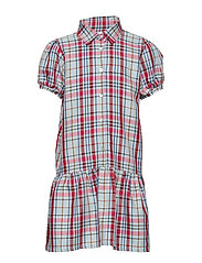 Dress No. 120 - CHECKED LIGHT BLUE/RED
