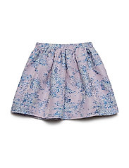 Skirt No. 202 - GREY/BLUE GLITTER MULTI FLOWER