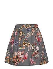 Skirt No. 202 - GREY FLOWERS