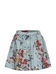 Skirt No. 202 - LIGHT BLUE FLOWERS
