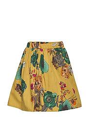 Skirt No. 202 - MUSTARD FLOWERS