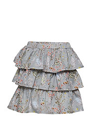 Skirt No. 203 - GREY MULTI FLOWER