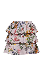 Skirt No. 203 - PALE ROSE MULTI FLOWER