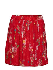 Skirt No. 206 - RED FLOWERS