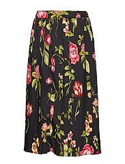 Skirt No. 213 - BLACK FLOWERS