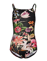 Swimsuit No. 712 - BLACK MULTI FLOWER