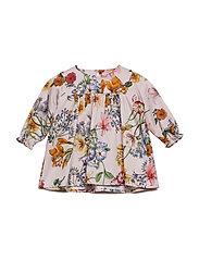 Dress No. 824 - PALE ROSE MULTI FLOWER