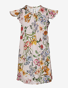 Dress No. 101 - PALE ROSE MULTI FLOWER