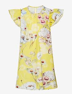 Dress No. 101 - YELLOW MULTI FLOWER