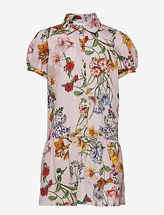 Dress No. 120 - PALE ROSE MULTI FLOWER