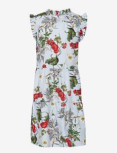 Dress No. 125 - LIGHT BLUE MULTI FLOWER