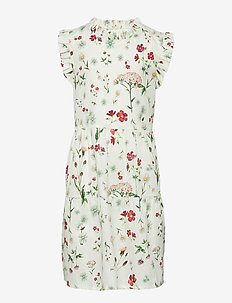 Dress No. 125 - WHITE MULTI FLOWER