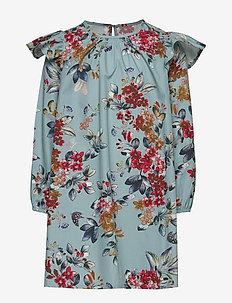 Dress No. 128 - LIGHT BLUE FLOWERS