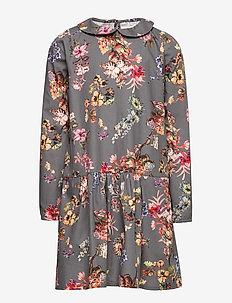 Dress No. 129 - GREY FLOWERS