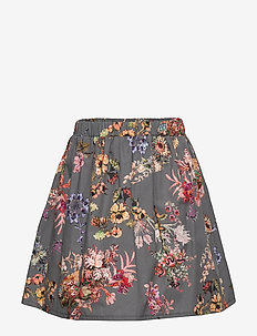 Skirt No. 202 - GREY FLOWERS
